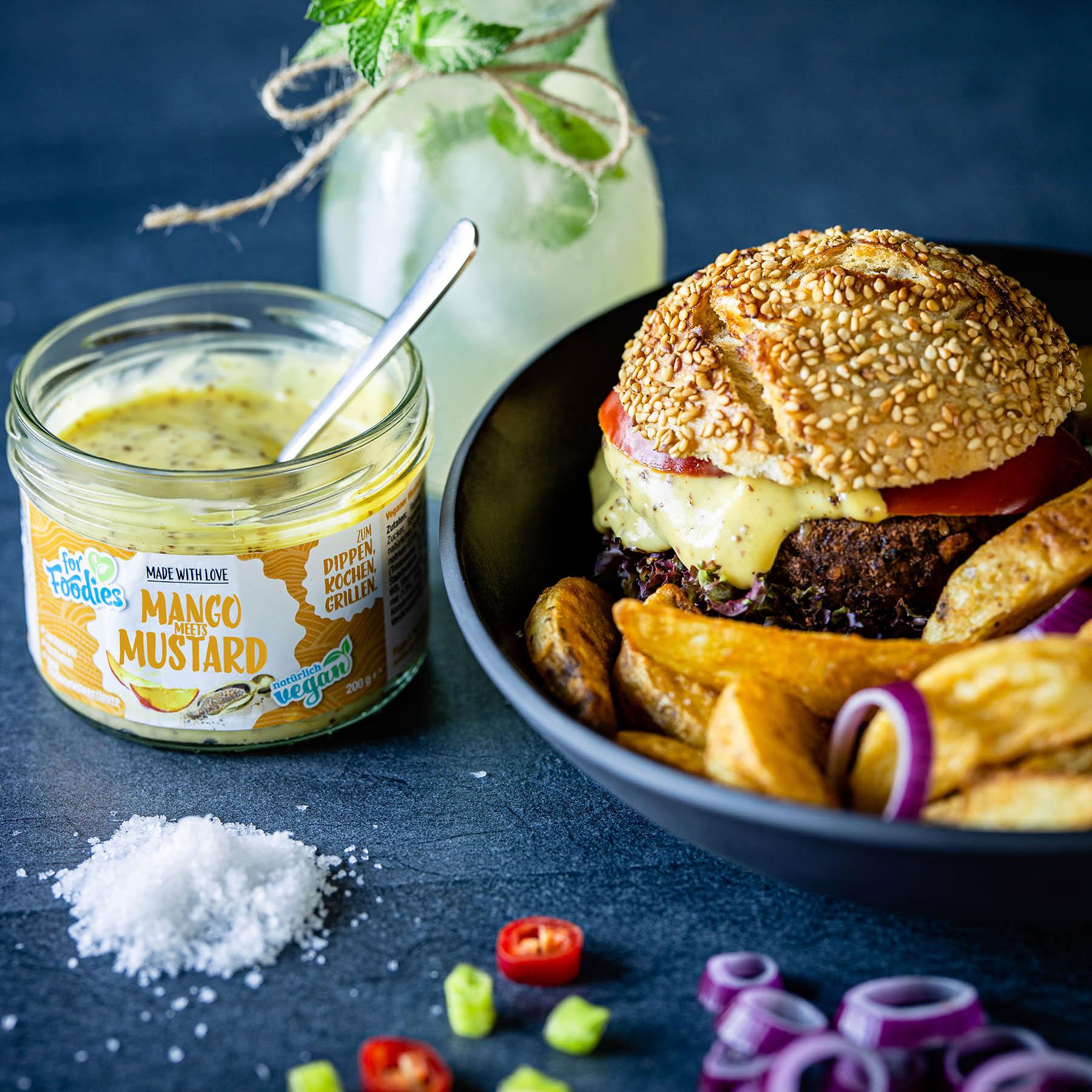 Vegane Burger mit selbstgemachten Patties