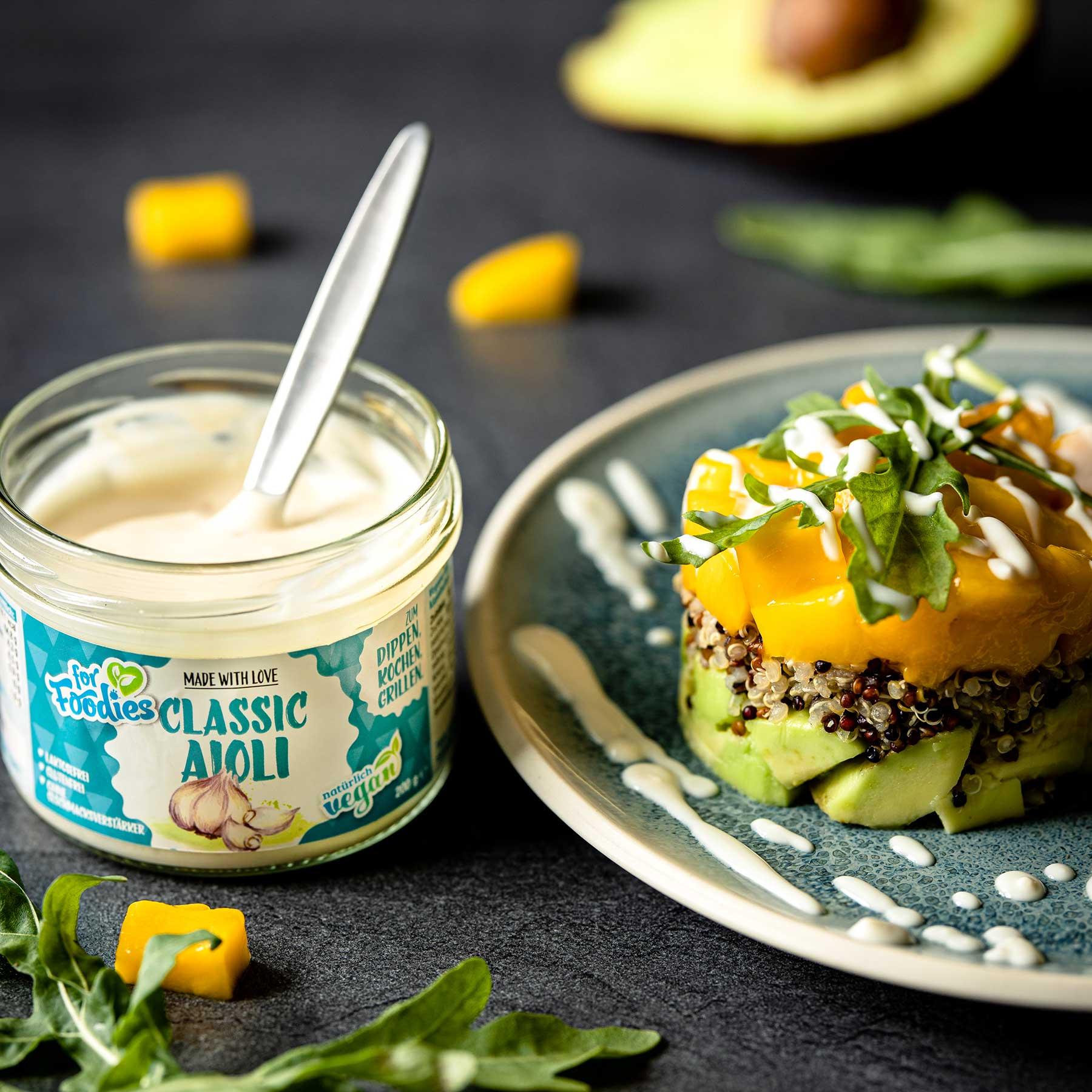 Quinoa-Avocado-Mango Törtchen